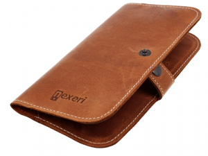 Etui portfel skórzany Nexeri Wallet Leather XL IPHONE 6+ PLUS / SAMSUNG GALAXY A10 brązowe