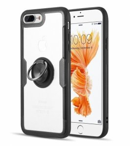Etui Pancerne Clear Carbon Ring IPHONE 6 czarne