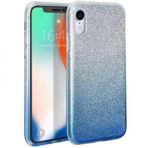 Etui Brokat Glitter XIAOMI MI9T MI 9T / K20 srebrno-niebieskie