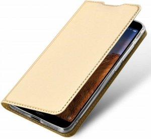 Etui XIAOMI REDMI NOTE 9S z klapką Dux Ducis skórzane Skin Leather złote