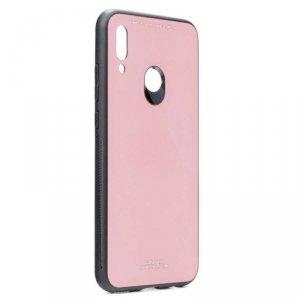 Etui HUAWEI P SMART 2019 Szklane Glass Case różowe