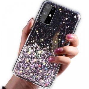 Etui HUAWEI P SMART 2020 Brokat Cekiny Glue Glitter Case czarne