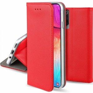 Etui MOTOROLA MOTO E6S portfel z klapką Flip Magnet czerwone