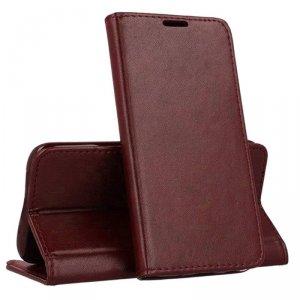 Etui SAMSUNG GALAXY A20E portfel z klapką skóra ekologiczna Kabura Magnet Book burgundowe