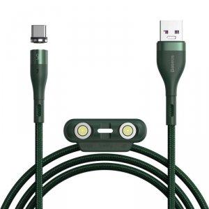 Magnetyczny Kabel 3w1 5A 1m USB na USB Typ C + iPhone Lightning + Micro USB Szybkie Ładowanie i Transfer Danych Baseus Zinc Magn