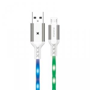 Kabel 3,2A 1m Sterowany Dźwiękiem Micro USB Ładowanie i Przesył Danych KAKU Voice Control Charging Data Cable MicroUSB (KSC-114)