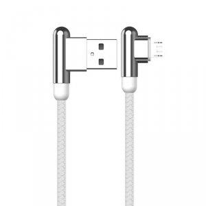 Kabel Kątowy 90° 3,2A 1,2m Micro USB Ładowanie i Przesył Danych Stop Cynkowy KAKU Zinc Alloy Charging Data Cable MicroUSB (KSC-1