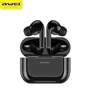 AWEI słuchawki Bluetooth 5.0 T29 TWS + stacja dokująca czarny/black