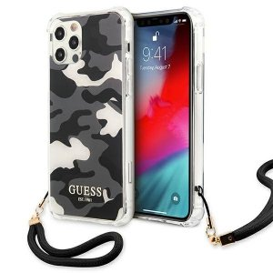 Etui Guess GUHCP12LKSARBK iPhone 12 Pro Max 6,7 czarny/black hardcase Camo Collection