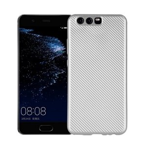 Etui Carbon Fiber Huawei P10 srebrny /silver