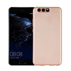Etui Carbon Fiber Huawei P10 złoty /gold