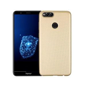 Etui Carbon Fiber Huawei Honor 7X złoty /gold