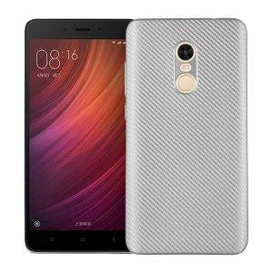 Etui Carbon Fiber Xiaomi Note 4/4X srebr ny/silver