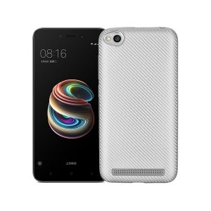 Etui Carbon Fiber Xiaomi Note 5A srebrny /silver without cut finger print