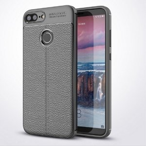 Etui Grain Leather Huawei Honor 9 Lite czarny/black