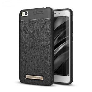 Etui Grain Leather Xiaomi Redmi 4A czarn y/black