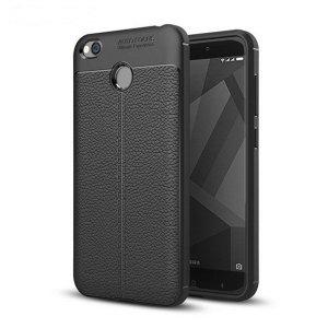 Etui Grain Leather Xiaomi Redmi 4X czarn y/black