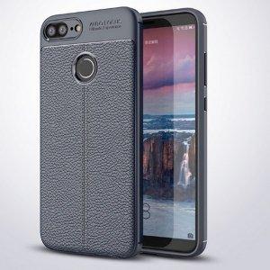 Etui Grain Leather Huawei Honor 9 Lite niebieski/blue