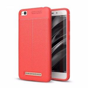 Etui Grain Leather Xiaomi Redmi 4A czerw ony/red