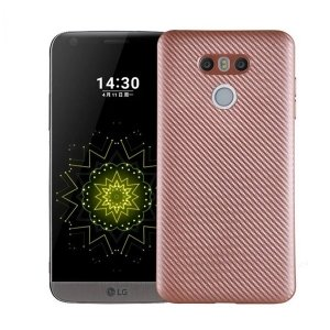 Etui Carbon Fiber LG G6 różowo-złoty /rose gold