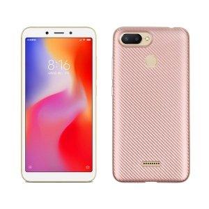 Etui Carbon Fiber Xiaomi Redmi Mi A1 różowo-złoty/rose gold