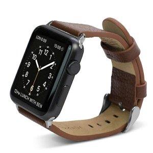 Pasek X-Doria Lux Apple Watch 42mm brązowy/brown 23819