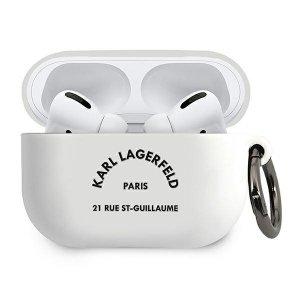 Karl Lagerfeld KLACAPSILRSGWH AirPods Pro cover biały/white Silicone RSG