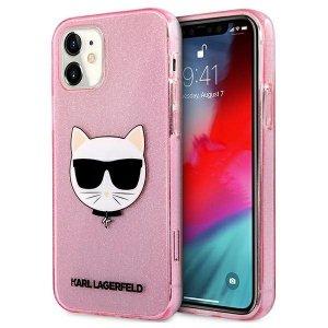 Karl Lagerfeld KLHCP12SCHTUGLP iPhone 12 mini 5,4 różowy/pink hardcase Glitter Choupette