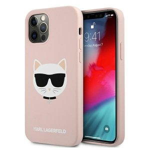 Karl Lagerfeld KLHCP12MSLCHLP iPhone 12/12 Pro 6,1 hardcase jasno różowy/light pink Silicone Choupette