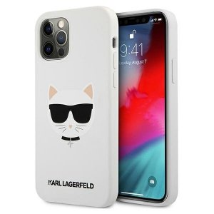 Karl Lagerfeld KLHCP12MSLCHWH iPhone 12/12 Pro 6,1 hardcase biały/white Silicone Choupette