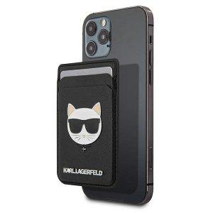 Etui Karl Lagerfeld KLWMSCHSFBK Wallet Card Slot Saffiano Choupette Head MagSafe czarny/black