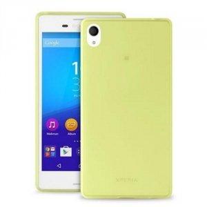 Puro Ultra Slim 0.3 Sony M4 Aqua limonko wy + folia SNYXM4AQUA03GRN