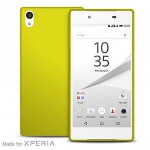 Puro Ultra Slim 0.3 Sony Z5 limonkowy + folia SYXZ503GRN