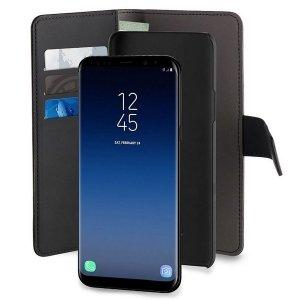 Puro Wallet Detachable Samsung S9 Plus G965 2w1 czarne/black SGS9PBOOKC3BLK