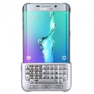 Etui Samsung EJ-CG928BS S6 edge+ G928F Qwerty cover silver