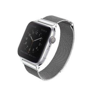 UNIQ pasek Dante Apple Watch Series 4/5/6/SE 40mm. Stainless Steel srebrny/sterling silver