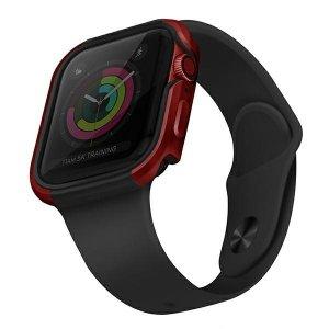 UNIQ etui Valencia Apple Watch Series 4/5/6/SE 40mm. czerwony/crimson red