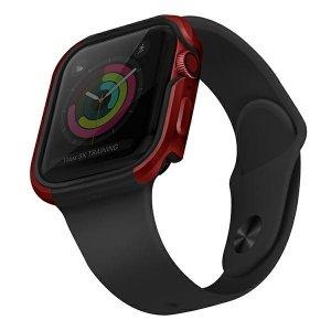 UNIQ etui Valencia Apple Watch Series 4/5/6/SE 44mm. czerwony/crimson red