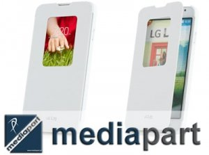 LG - ORYGINALNE ETUI BOOK CASE FUTERAŁ CCF-400 - LG L70 (białe)