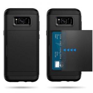 Dual Rugged Case Card Slide - Pancerne etui - Samsung Galaxy J3 2016 J310 (szary)