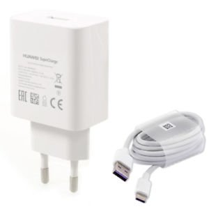 NOWA ORYGINALNA ŁADOWARKA SIECIOWA HUAWEI SUPERCHARGER AP81 HW-050450E00 - 5V 2A / 4,5V 5A / 5V 4,5A 22,5W + KABEL USB Typ C HD1289 do HUAWEI P10 Mate 9 Honor 8 P20 , P20 PRO , P SMART , HONOR 10 , Mate 20 PRO , MATE 20 , P30 PRO, P40 Lite