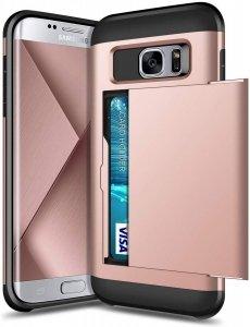 Dual Rugged Case Card Slide - Pancerne etui - Samsung Galaxy S6 EDGE (rose-gold)