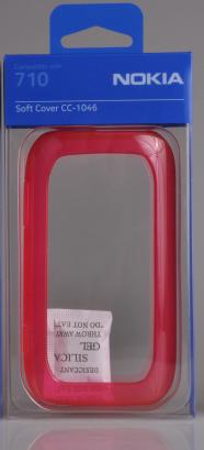 NOKIA CC-1046 ETUI SILIKON SILIKONOWE DO LUMIA 710 czerwone