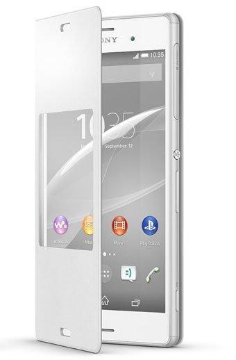 Oryginalne Etui Style Window Cover Sony SCR24  XPERIA Z3 (biały)