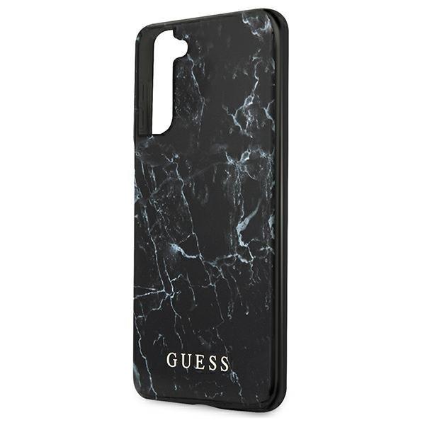 Guess GUHCS21SPCUMABK S21 G991 czarny/black hardcase Marble