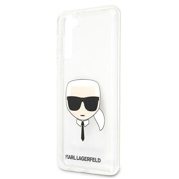 Etui Karl Lagerfeld KLHCS21MKTR S21+ G996 hardcase Transparent Etui Karl`s Head