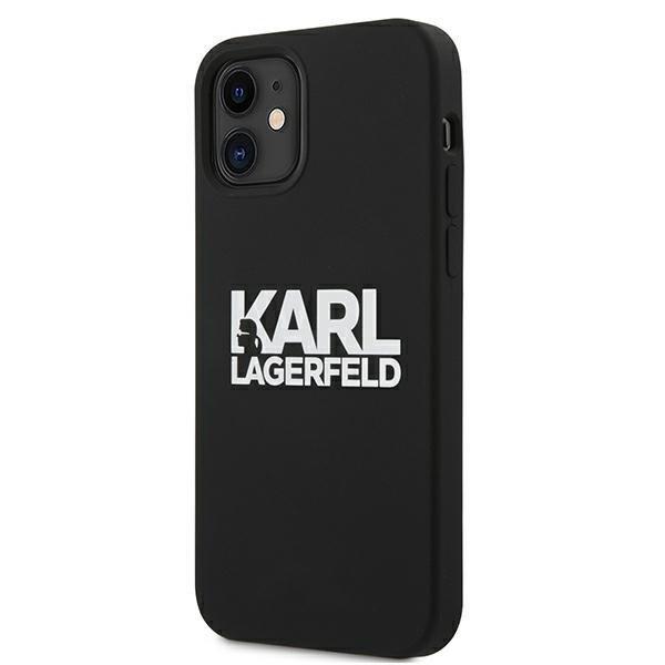 "Karl Lagerfeld KLHCP12SSLKLRBK iPhone 12 mini 5,4"" Silicone Stack Logo czarny/black"