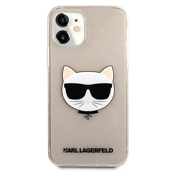 "Karl Lagerfeld KLHCP12SCHTUGLGO iPhone 12 mini 5,4"" złoty/gold hardcase Glitter Choupette"