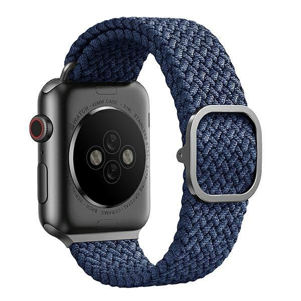 UNIQ pasek Aspen Apple Watch 40/38mm Braided niebieski/oxford blue