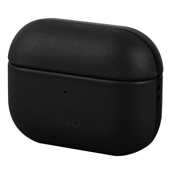 UNIQ etui Terra AirPods Pro Genuine Leather czarny/black